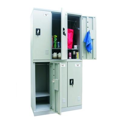 """36""""W x 72""""H Unassembled Steel 6 Locker Unit"""