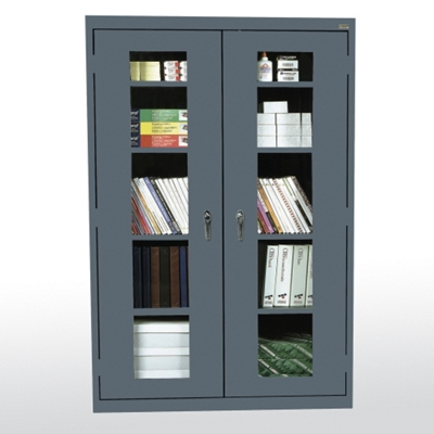 """Five Shelf Cabinet with ClearView Doors - 46""""W x 24""""D"""