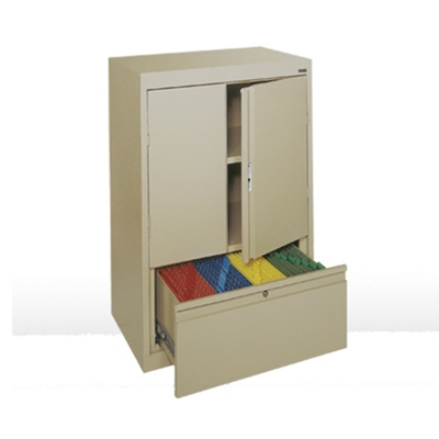 """Counter Height Storage Cabinet with File Drawer -  30""""W"""