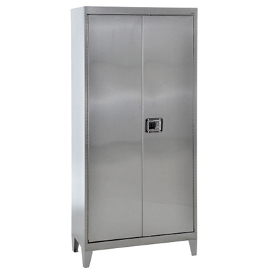 "Raised Stainless Steel Cabinet with Paddle Lock - 36""W x 24""D x 85""H"