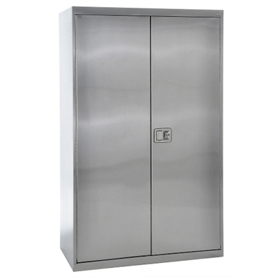"""Five Shelf Stainless Steel Cabinet with Paddle Lock - 48""""W x 24""""D x 78""""H"""