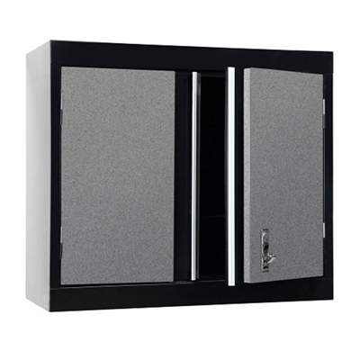 "Two Shelf Lockable Wall Cabinet - 30""W x 12""D x 26""H"