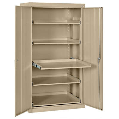 """Pull Out Tray Storage Cabinet - 36""""W x 24""""D x 66""""H"""