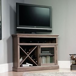 Corner TV Stand with Glass Door