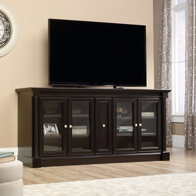 "TV Storage Credenza with Glass or Wood Doors - 70""W x 19.5""D"