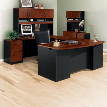 complete u desk office set with locking files 14767