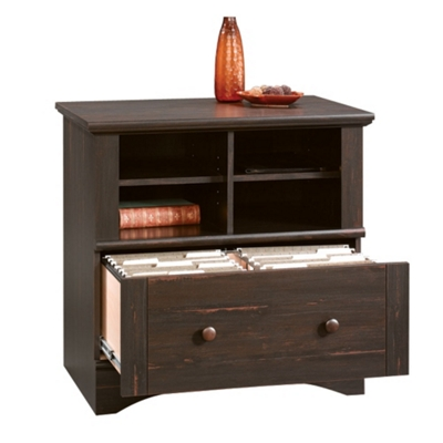 Lateral File with Storage Shelf