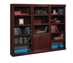 15 Shelf Traditional Bookcase Set