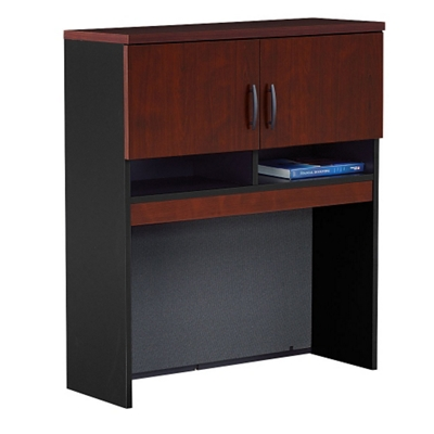Hutch for Lateral File with Soft-Close Doors