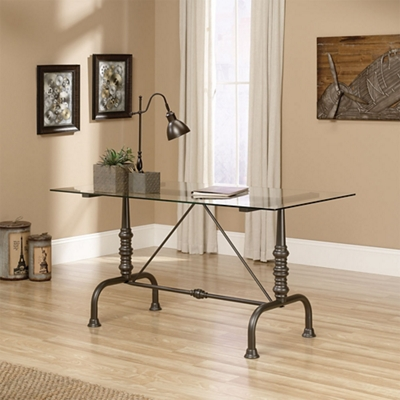 "Glass Top Desk - 60""W"