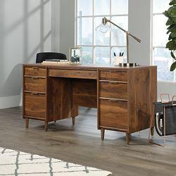 "Mid-Century Modern Double Pedestal Executive Desk - 60""W"
