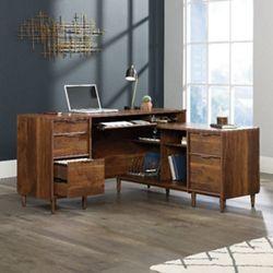 "Mid-Century Modern Reversible Executive L-Desk - 59""W"