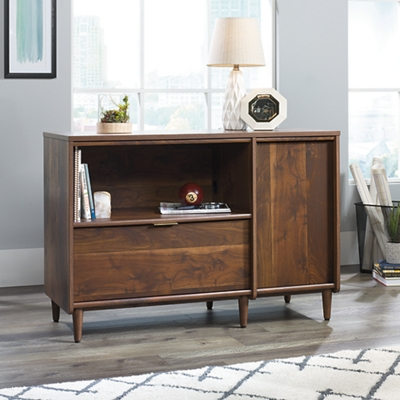 Mid Century Modern Storage Credenza 44 W By Sauder Office Furniture Nbf