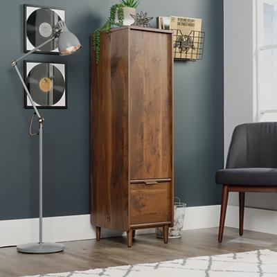 "Mid-Century Modern Wardrobe Cabinet with File - 15.5""W"