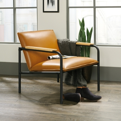 Lounge Chair with Wooden Arm Caps