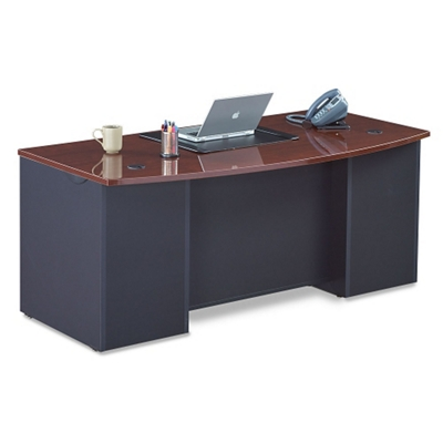Executive Bowfront Desk Shell