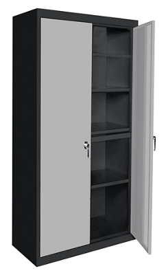 "Four Shelf Storage Cabinet - 36""W x 18""D x 72""H"