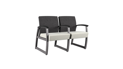 Behavioral Health Vinyl Double Guest Chair