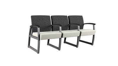 Behavioral Health Vinyl Three Seat Guest Chair