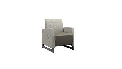 Behavioral Health Vinyl Guest Chair with Upholstered Arms
