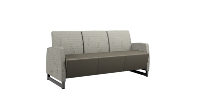 Behavioral Health Vinyl Sofa with Upholstered Arms