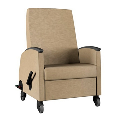 """Recliner with 24""""W Seat and Central Lock/Steer - 600 lb Weight Capacity"""