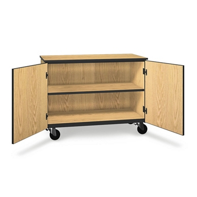 "Two Shelf Mobile Low Storage Cabinet - 36""H"