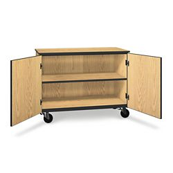 """Two Shelf Mobile Low Storage Cabinet - 36""""H"""