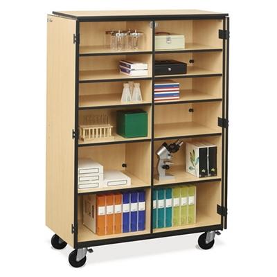 Mobile Split Shelf Storage Cabinet