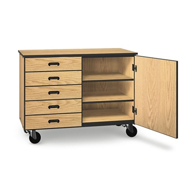 "Five Drawer Mobile Storage Cabinet - 36""H"