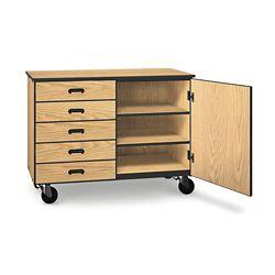 "Five Drawer Mobile Storage Cabinet - 36""H"
