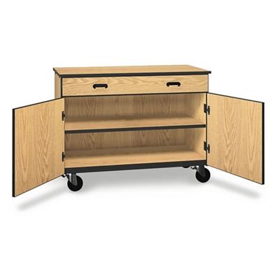 "Single Drawer Mobile Storage Cabinet - 36""H"