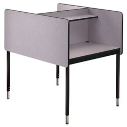 Adjustable Height Two Sided Carrel- Starter