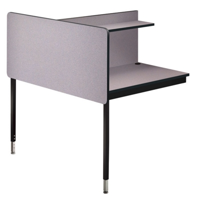 Adjustable Height Two-Sided Carrel- Adder