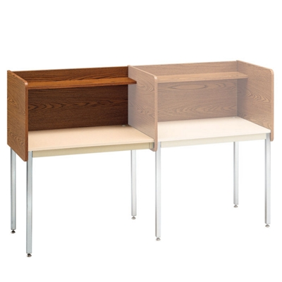 Fixed Height Modular Carrel- Adder