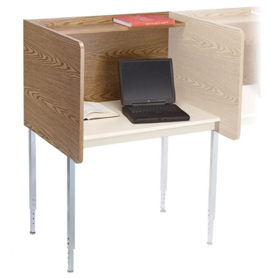Adjustable Height Privacy Carrel- Adder