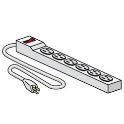 Power Strip- Six Outlets