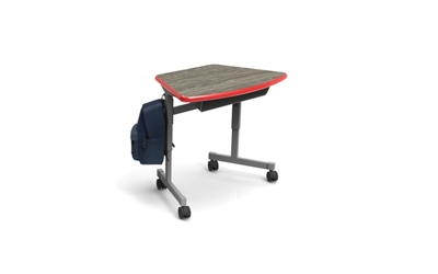 Fixed Height Desk with Casters