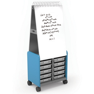 "29""W x 71""H Mobile Whiteboard with Storage Cabinet"