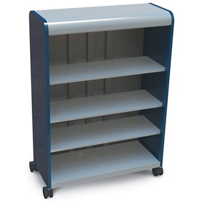 "Mobile Open Four Shelf Storage Tower 43""W x 61""H"