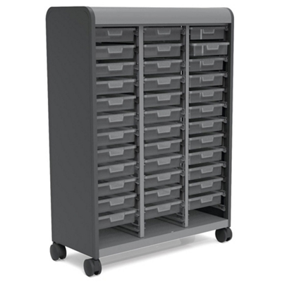 "Mobile Doored Storage Tower with 36 Totes 43""W x 61""H"