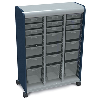 "Mobile Storage Tower with 21 Totes 43""W x 61""H"