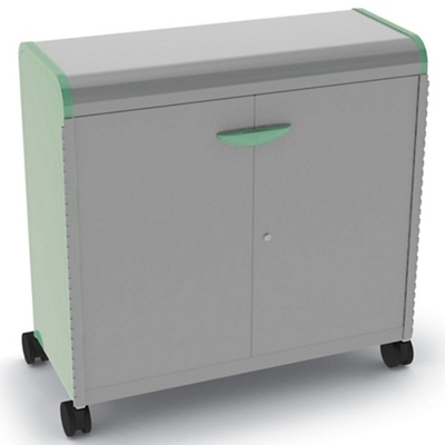 "Mobile Doored Three Shelf Storage Cabinet 43""W x 43""H"