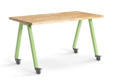 "Butcher Block Studio Table - 40""H"