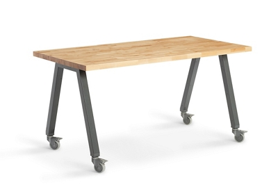 "Butcher Block Studio Table - 36""H"