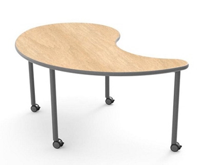 "Yin-Yang Table with Casters - 54""W x 65""D"