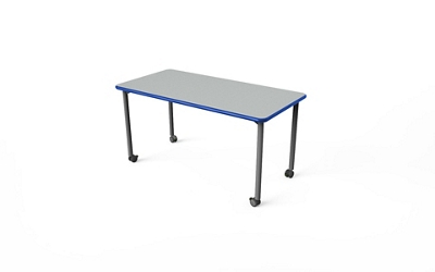"Rectangular Table with Casters - 48""W x 30""D"