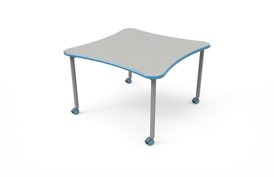 "Rounded Square Table with Casters - 42""W x 42""D"