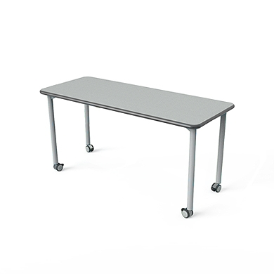 "Rectangular Table with Casters - 36""W x 24""D"