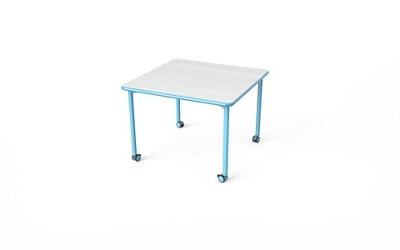 "Square Table with Casters - 42""W x 42""D"